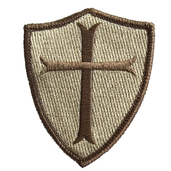 Gadsden and Culpeper Airsoft Morale Patch 2 Crusader Shield Shoulder Patch