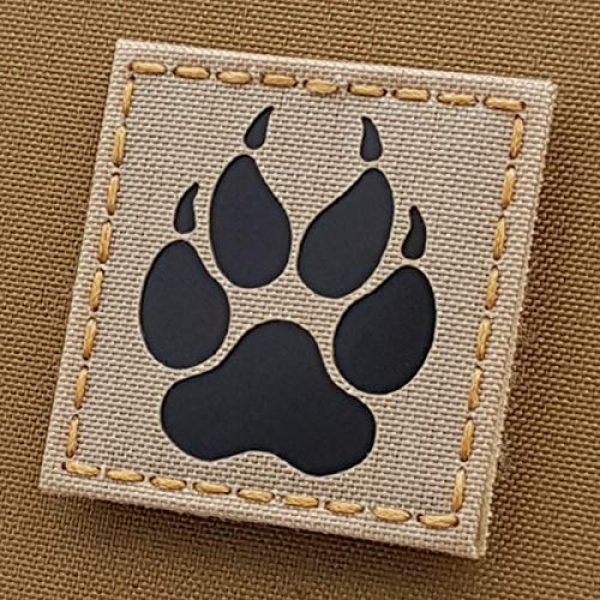 Tactical Freaky Airsoft Morale Patch 1 IR K9 Dog Handler Pawk-9 2x2 Desert Sand Tan Tactical Morale Touch Fastener Patch
