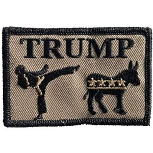 """Gadsden and Culpeper Airsoft Morale Patch 1 Trump Kick Ass 2"""" x 3"""" Tactical Morale Patches"""