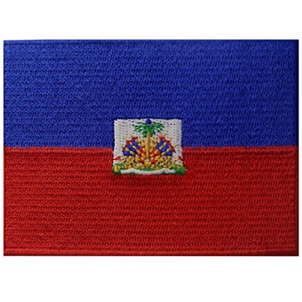 EmbTao Airsoft Morale Patch 1 Haiti Flag Embroidered Patch Haitian Iron On Sew On National Emblem