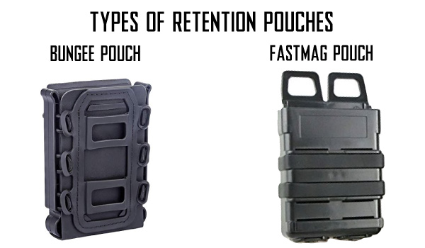 MOLLE Open Top Magazine Pouches with Retention Types - Bungee VS FastMag