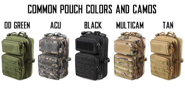 MOLLE Tactical Pouch Colors and Camo Patterns
