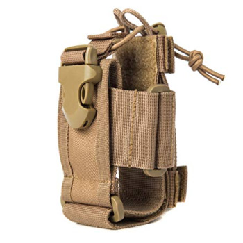 Tactical Radio Pouch with MOLLE Attachments