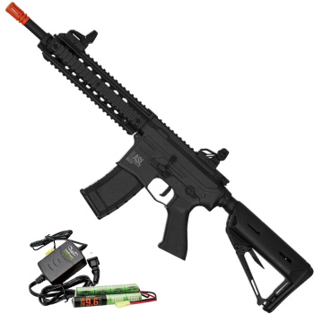 Valken MOD-M ASL Series M4 Airsoft Rifle AEG with 9.6v Battery and Smart Charger