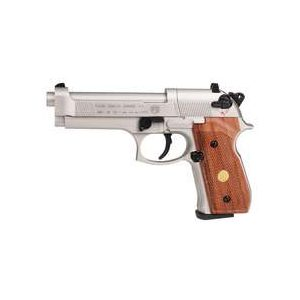 Beretta Air Pistol 1 Beretta Air Pistol - M92FS Nickel w/ Wood Grips .177 cal CO2 Pellet Gun 0.177