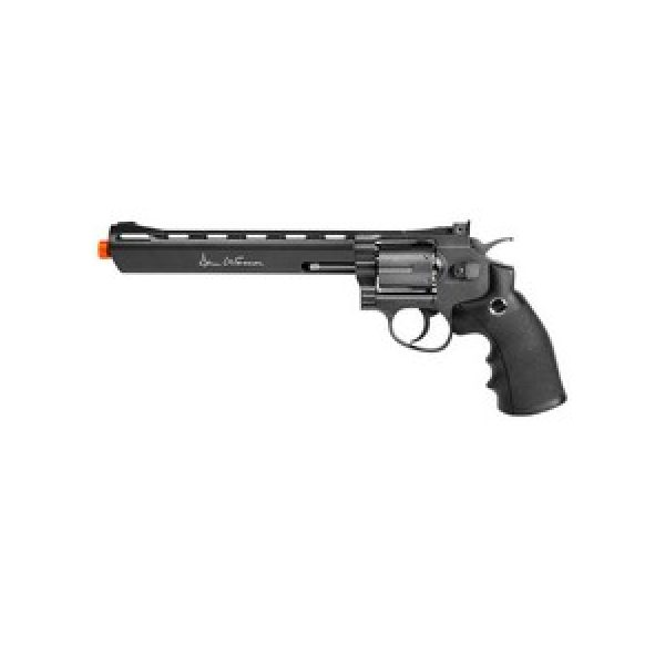 """Dan Wesson Airsoft Pistol 1 Dan Wesson 8"""" 6mm Airsoft Revolver, Grey 6mm"""