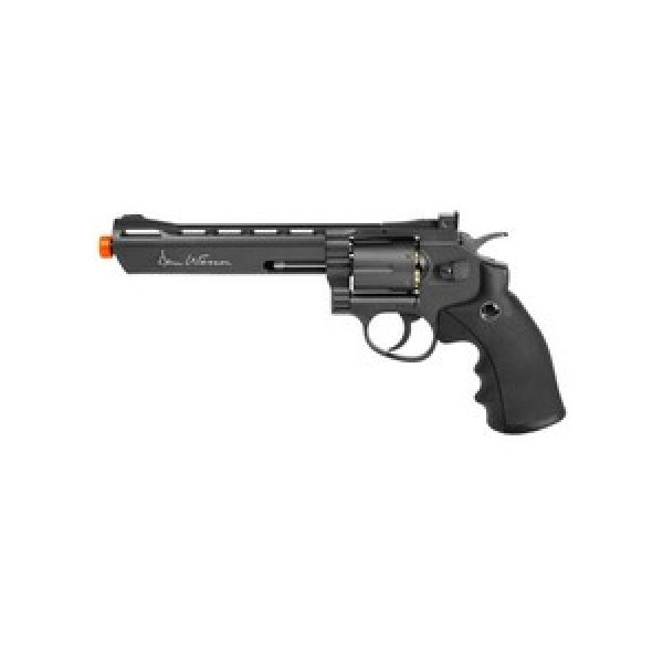 """Dan Wesson Airsoft Pistol 1 Dan Wesson 6"""" 6mm Airsoft Revolver, Grey 6mm"""