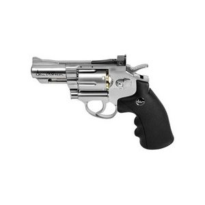 """Dan Wesson Air Pistol 1 Dan Wesson 2.5"""" BB Revolver, Silver 0.177"""