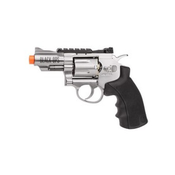 """Black Ops Airsoft Pistol 1 Black Ops WG 2.5"""" Airsoft Revolver, Silver 6mm"""