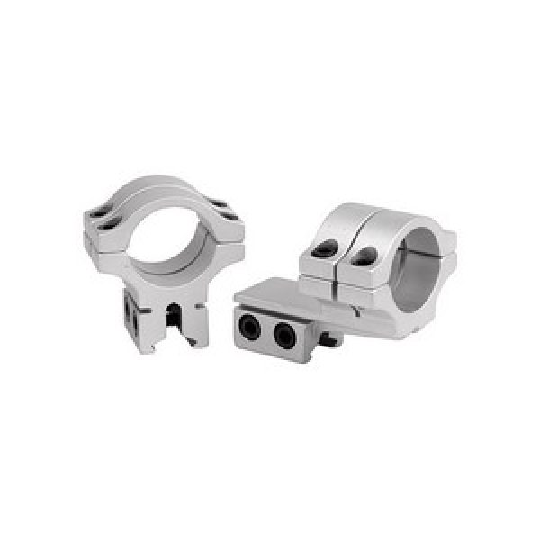 """Bkl Air Gun Accessory 1 BKL Double Strap Offset 1"""" Rings, Dovetail, Silver"""