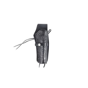 """Western Justice Air Gun Accessory 1 Western Justice 6"""" Leather Holster, Black, Right Hand"""