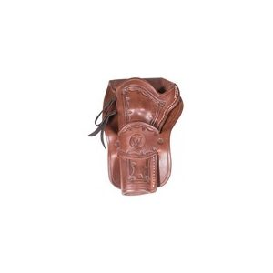Western Justice Air Gun Accessory 1 Western Justice Hand-Tooled Dark Burgundy Leather Holster, Left Hand