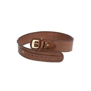 "Western Justice Air Gun Accessory 1 Western Justice Leather Gun Belt, 36-40"" Waist, Chocolate"