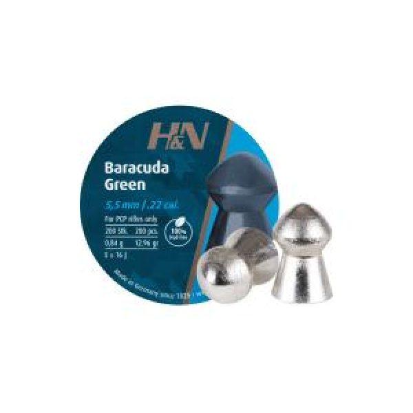 Haendler & Natermann Pellets and BBs 1 H&N Baracuda Green .22 Cal, 12.96 gr - 200 ct 0.22