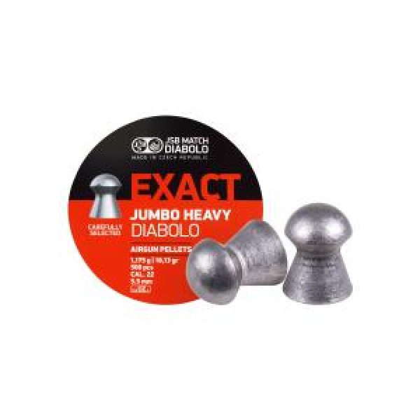 Jsb Pellets and BBs 1 JSB Diabolo Exact Jumbo Heavy .22 Cal, 18.13 gr - 500 ct 0.22