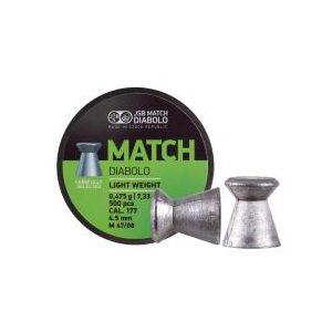 Jsb Pellets and BBs 1 JSB Green Match Light Weight .177 Cal, 7.33 gr - 500 ct 0.177
