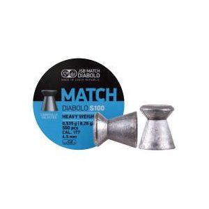 Jsb Pellets and BBs 1 JSB Blue Match Heavy Weight .177 Cal, 8.26 gr - 500 ct 0.177