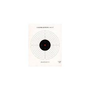 National Target Company Air Gun Accessory 1 National Target Single 10m Air Pistol Target, Red Center 100 ct