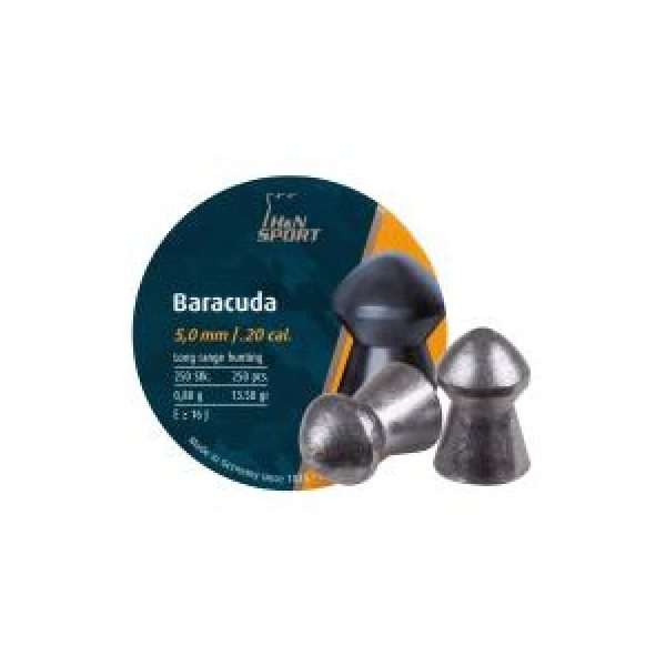 Haendler & Natermann Pellets and BBs 1 H&N Baracuda .20 Cal, 13.27 gr - 250 ct 0.20