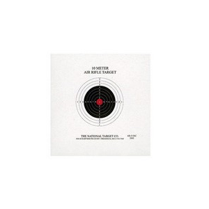 National Target Company Air Gun Accessory 1 National Target Single 10m Air Rifle Target, Red Center 100 ct