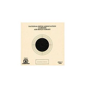 National Target Company Air Gun Accessory 1 National Target Single 10m Air Rifle Target, 100 ct