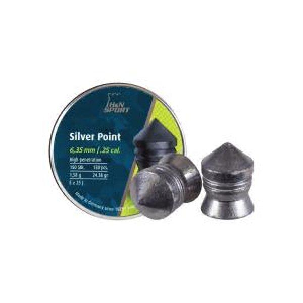 Haendler & Natermann Pellets and BBs 1 H&N Silver Point .25 Cal, 24.38 gr - 150 ct 0.25