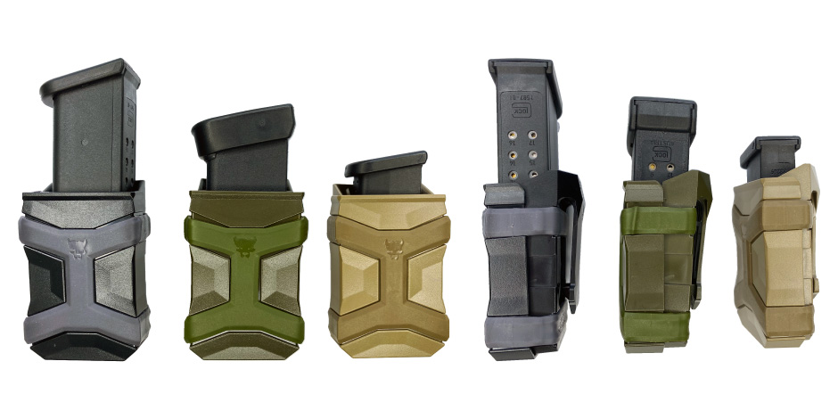 All CCW Magazine Carriers Loaded with Glock Magazines