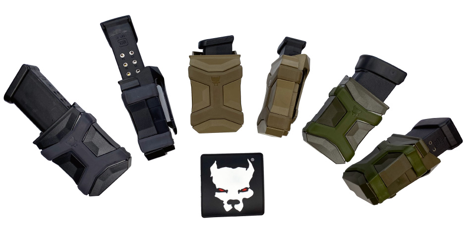 Glock 17, 30, and 42 Magazines in CCW Magazine Carriers Used for IWB and OWB