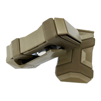 Pitbull Tactical Universal Magazine Carrier Gen 2 Tan Front and Side View