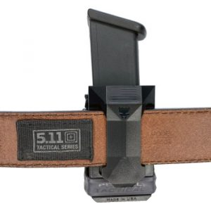 Universal CCW Magazine Carrier with Glock 17 Magazine on 5.11 Back View